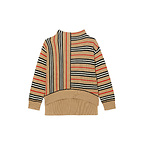 Burberry Bianca Stripe Funnel Neck Sweater (Toddler Girl, Little Girl & Big Girl)
