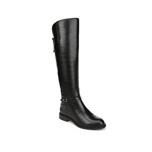 Franco Sarto Women's Haylie Knee High Boot, Black Leather, 6 M US