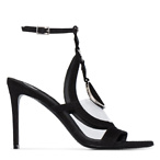 BALMAIN Round badge high-heeled sandals
