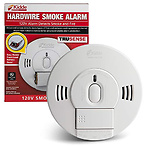 Kidde 21028502 AC/DC Wire-in Smoke Alarm Detector with TruSense Technology