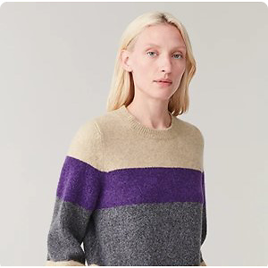 STRIPED ALPACA-YAK SWEATER