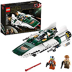 LEGO Star Wars: The Rise of Skywalker Resistance A Wing Starfighter 75248 Advanced Collectible Starship Model Building Kit