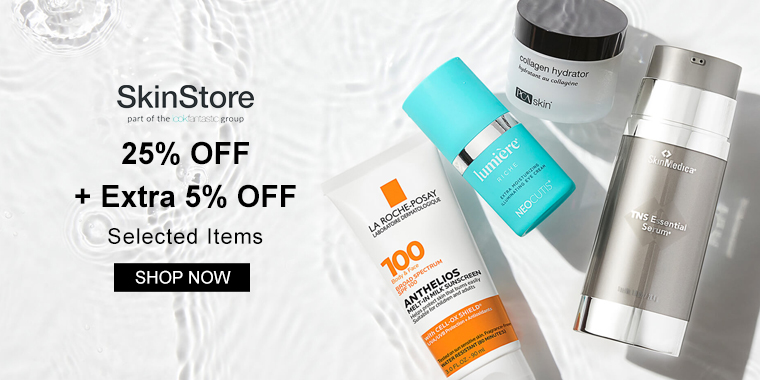 SkinStore: 25% OFF + Extra 5% OFF Selected Items