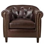 Warin Chocolate Leather Club Chair