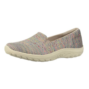 Skechers Women's Knit Twin Gore Slip on (Willows) Loafer Flat