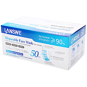LANSWE Disposable Face Mask - 50 pcs per Box
