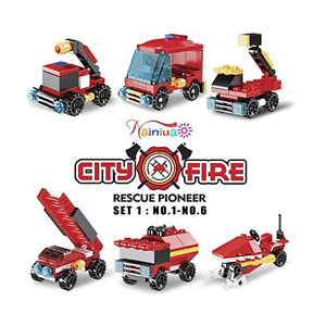 222Pcs Fire Rescue Vehicles Building Blocks Set