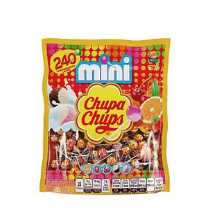 Chupa Chups Mini Lollipops, 240 Bulk Candy Suckers for Kids