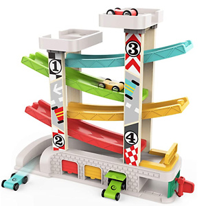 TOP BRIGHT Car Ramp Toy for 2 Year Old Boy Gifts