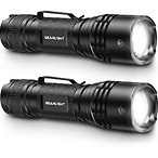 GearLight TAC LED Tactical Flashlight [2 PACK]