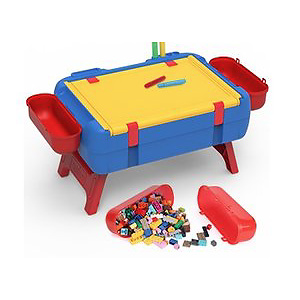 PANLOS Kids Activity Table Set-3 in 1 Luggage Learning Table