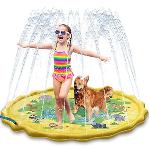 HYFAM Sprinkler Splash Play Mat Pad, 68'' Swimming Pool
