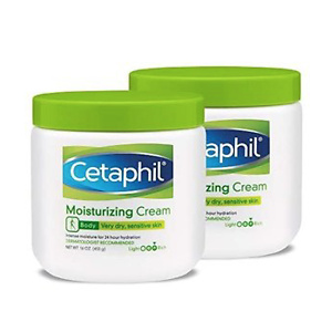 Cetaphil Fragrance Free Moisturizing Cream, 16 Ounce (Pack of 2)