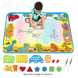 FREE TO FLY Large Aqua Drawing Mat
