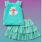 Hairdorables Aqua Unicorn Willow Tank and Tulle Skirt