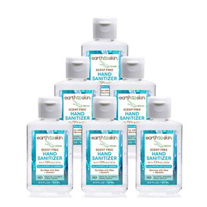 Earth to Skin Hand Sanitizer Gel, 2 oz Scent Free, 6 Pack