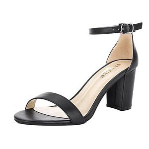 EUNICER Women's Classic High Heel Chunky Sandals