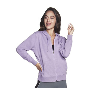 Skechers Women's Diamond Logo Full Zip Hoodie Sweatshirt