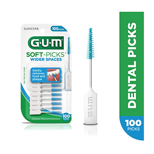 GUM Soft-Picks Wider Spaces Dental Picks, 100 Count