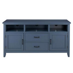 Whitford Steel Blue Wood TV Stand