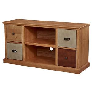 "Amazon Brand – Ravenna Home Classic Solid Wood Media Center, 47""W"