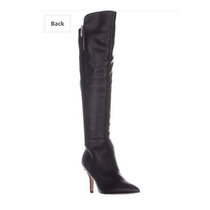 Marc Fisher Womens Thora Leather Pointed Toe Over-The-Knee Boots
