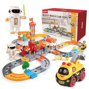 Beebeerun Train Set 130 Piece Car Track Toys