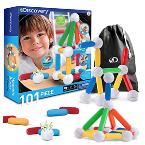 Discovery Kids 101-Piece Best Magnetic Tile Building Blocks Kit