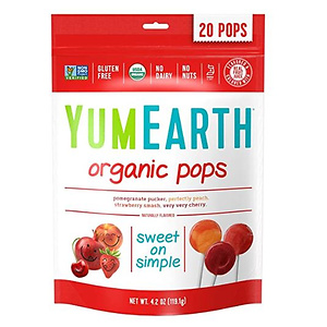 YumEarth Organic Vitamin C Lollipops, Assorted Flavors, 4.2 Ounce, 20 Lollipops