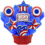 USA Love Cookie Bouquet