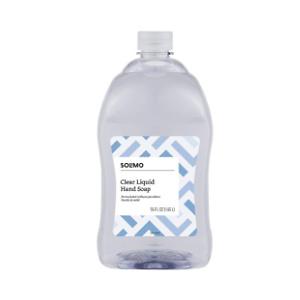mazon Brand - Solimo Gentle & Mild Clear Liquid Hand Soap Refill