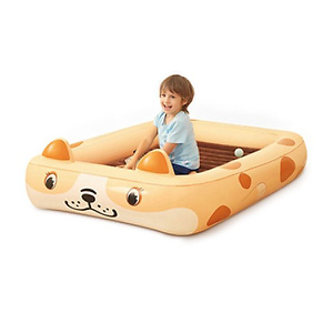Kids Inflatable Toddler Travel Bed Cartoon Dog