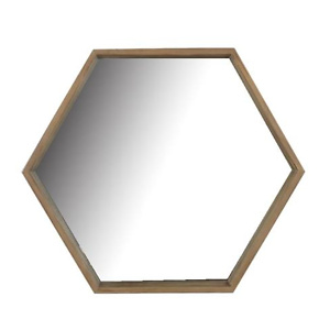 Home Depot: StyleWell Medium Arch Natural Wood Modern Accent Mirror