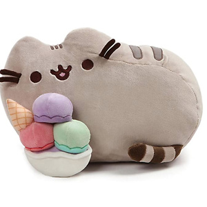 GUND Pusheen Snackables Sundae Cat Plush Stuffed Animal, Gray, 12""