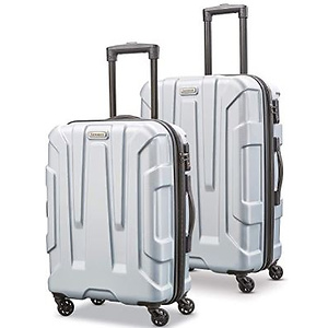Samsonite Centric Expandable Hardside Luggage Set with Spinner Wheels, 2-Piece (20/24), Silver