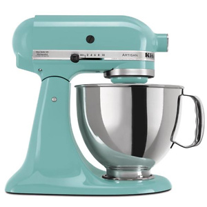 Home Depot: KitchenAid Artisan 5 Qt. 10-Speed Tilt-Head Aqua Sky Stand Mixer