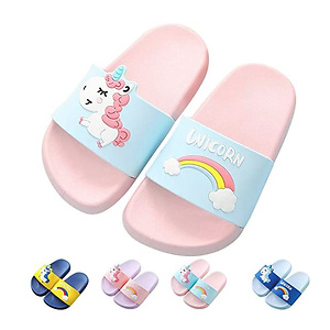 Kids Unicorn Slide Sandals Non-Slip Summer Beach Water Shoes