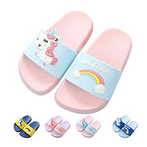 Kids Unicorn Slide Sandals Non-Slip Summer Beach Water Shoes