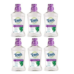 Tom's of Maine Natural Mouthwash, Natural Mouthwash, Fresh Mint, 16 Ounce, 6-Pack