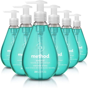 Method Gel Hand Soap, Waterfall, 12 Fl Oz (Pack of 6)