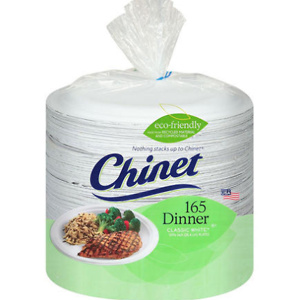 "Sams Club: Chinet Classic White 10-3/8"" Dinner Plates (165 ct.)"