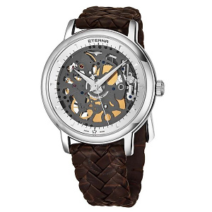 Eterna Skeleton Special Edition 1856 Hand Wind Silver Dial Watch