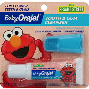 Baby Orajel Elmo Tooth & Gum Cleanser with Finger Brush