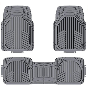AmazonBasics 3-Piece All-Season Odorless Heavy Duty Rubber Floor Mat
