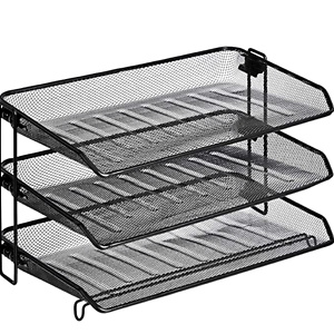 AmazonBasics Mesh Collection 3-Tier Desk Tray