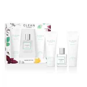 CLEAN Fragrance 3-Pc. Classic Warm Cotton Gift Set