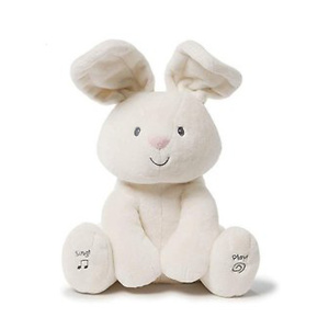 Baby GUND 会躲猫猫会唱歌的大白兔