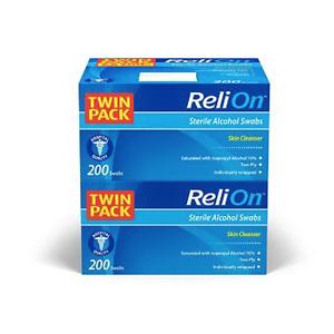 ReliOn Medium Alcohol Prep Pads