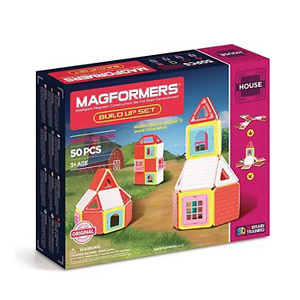 Magformers Build Up (50 Piece) Set Magnetic Building Blocks