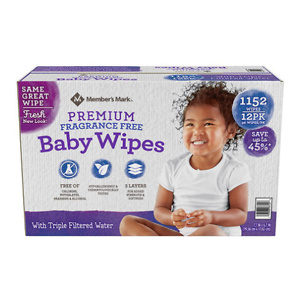 Sams Club: Member's Mark Premium Fragrance Free Baby Wipes (1152 ct.)